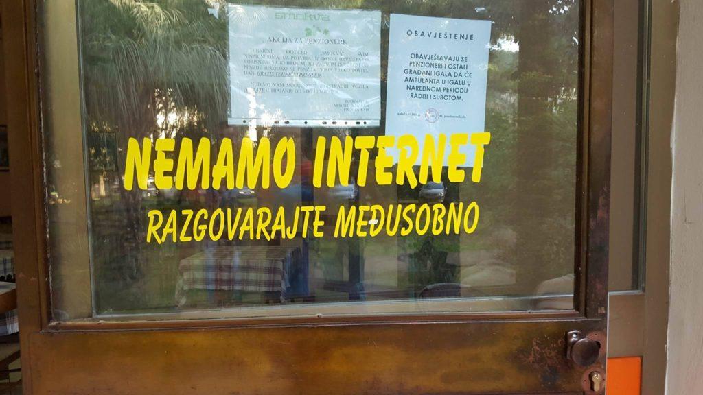 Nemamo internet